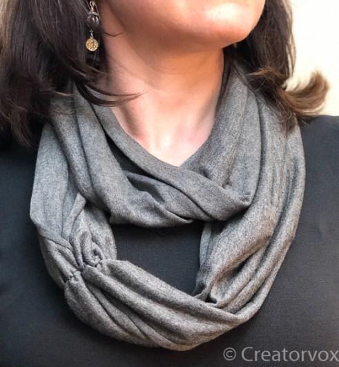 lightweight infinity scarf grey