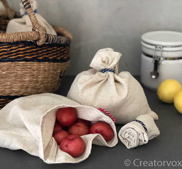 reusable produce bags in organic cotton FI