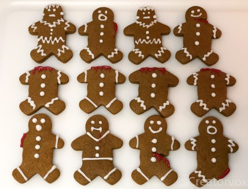 spooky gingerbread men with red icing details 2