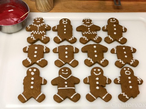 spooky gingerbread men with traditional icing 2
