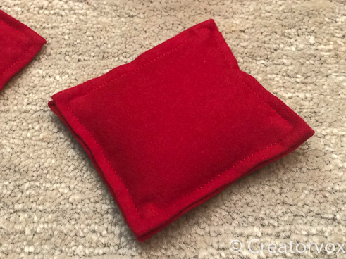 red flannel pillow style pocket hand warmers