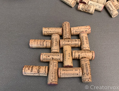 wine cork trivet project dark corks