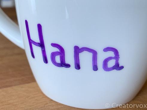 oil based marker writing on mug after dishwasher