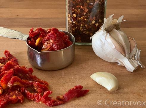 ingredients for shrimp pasta