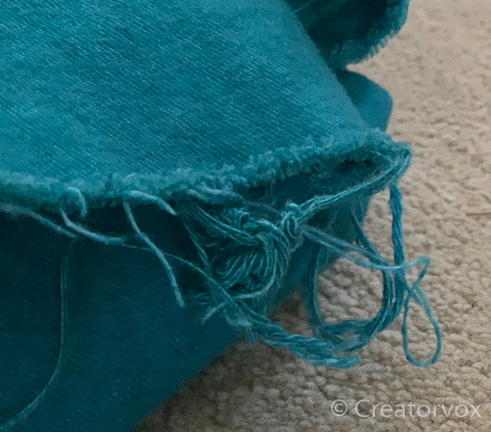 frayed edges after dyeing fabric