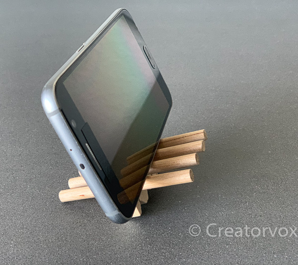 chair phone stand in more upright position