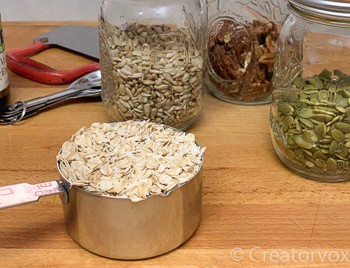 dry ingredients for homemade granola
