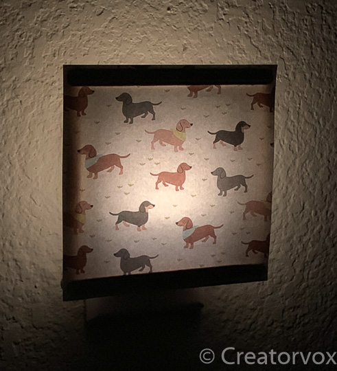 DIY nightlight with dog shade
