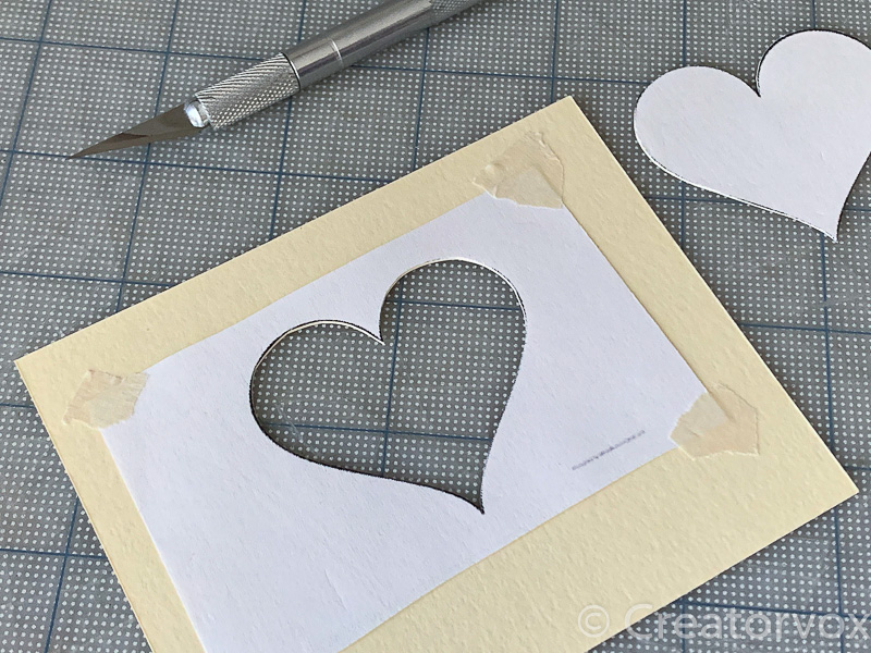 DIY heart nightlight