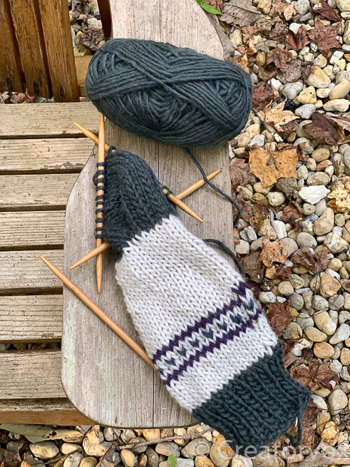 knitting outdoors