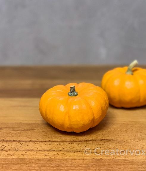mini pumpkins decoration to side dish