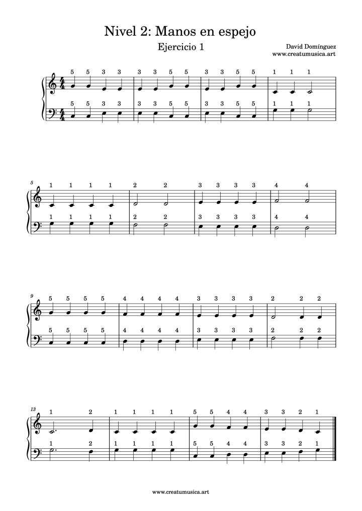 Ejercicio 1 Nivel 2 Piano