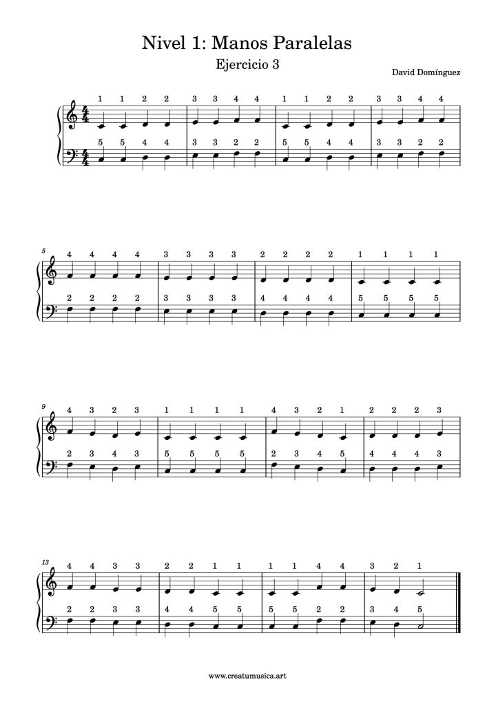 piano nivel 1 ejercicio 3