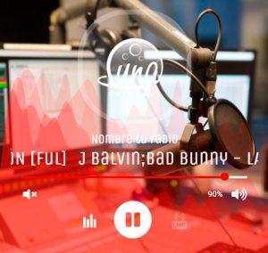 Generador de Reproductor HTML5 Luna Radio gratis