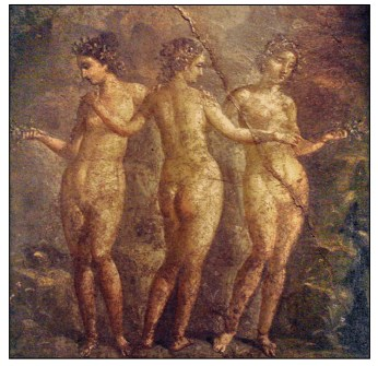 three graces from pompeii