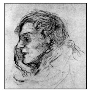 Sketch of Dowson by Charles Condor, late 1890s