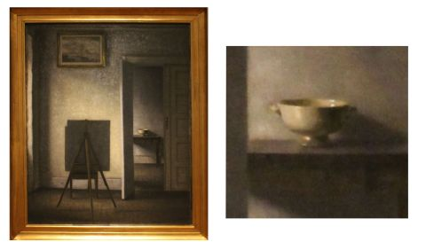 hammershoi easel and bowl
