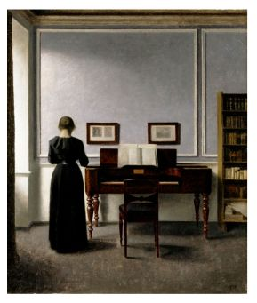 hammershoi interior with piano B
