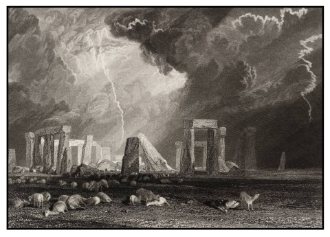 turner stonehenge engraved robert wallis 1829 xb