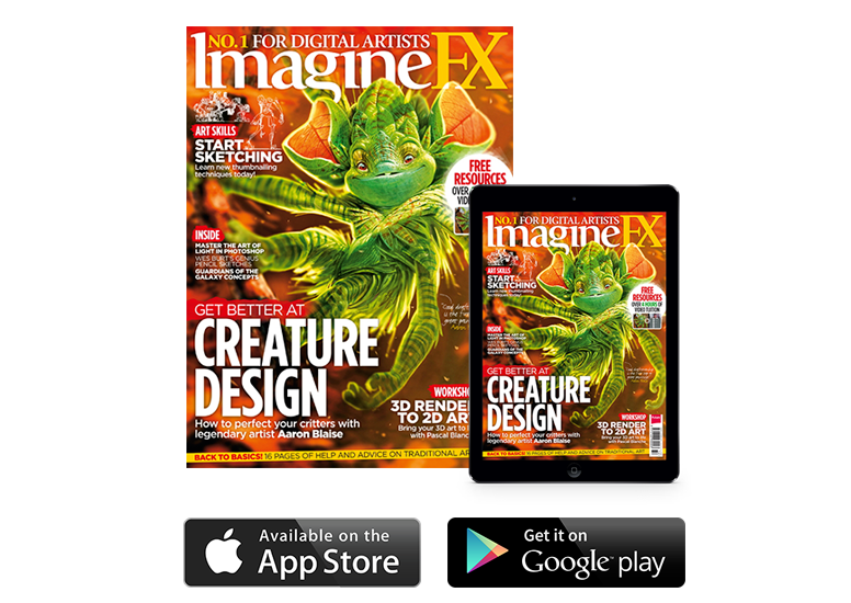 Aaron Blaise - ImagineFX Cover Issue
