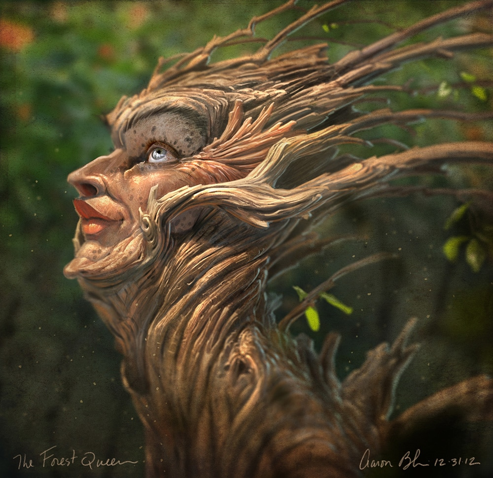 Painting Photo Real Creatures in Photoshop 2 - The Forest Queen - The Art  of Aaron Blaise