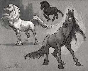 how to draw cartoon horses