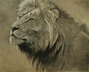 charcoal drawings by Aaron Blaise