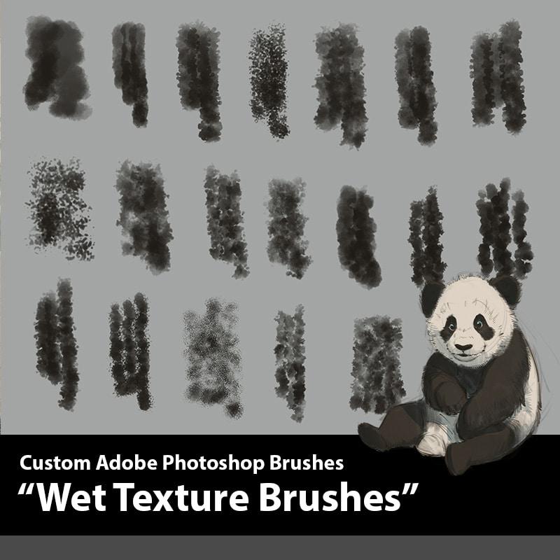 Wet Texture Photoshop Brushes