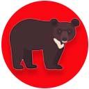 Asiatic black bear point icon