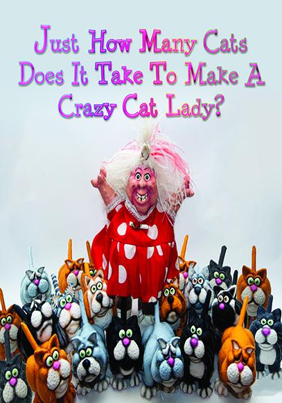 Crazy Cat Lady Card for slider