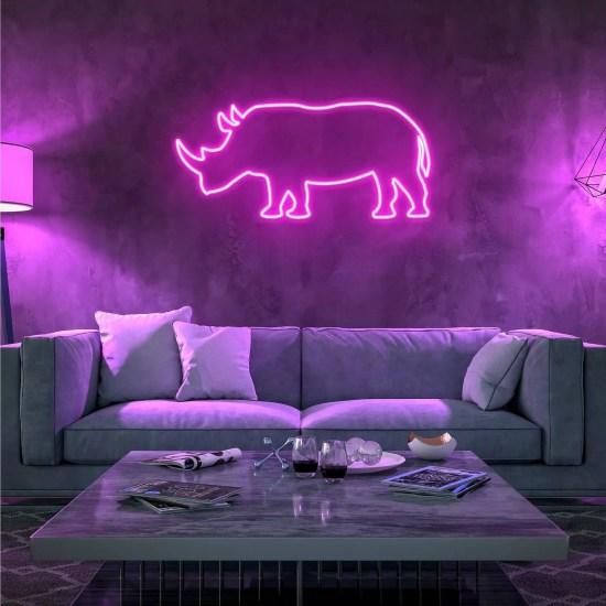Neon rosa animal