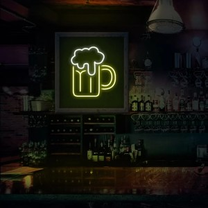 Neon cerveza