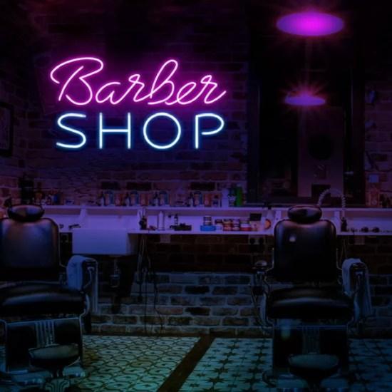 Barbería Neón