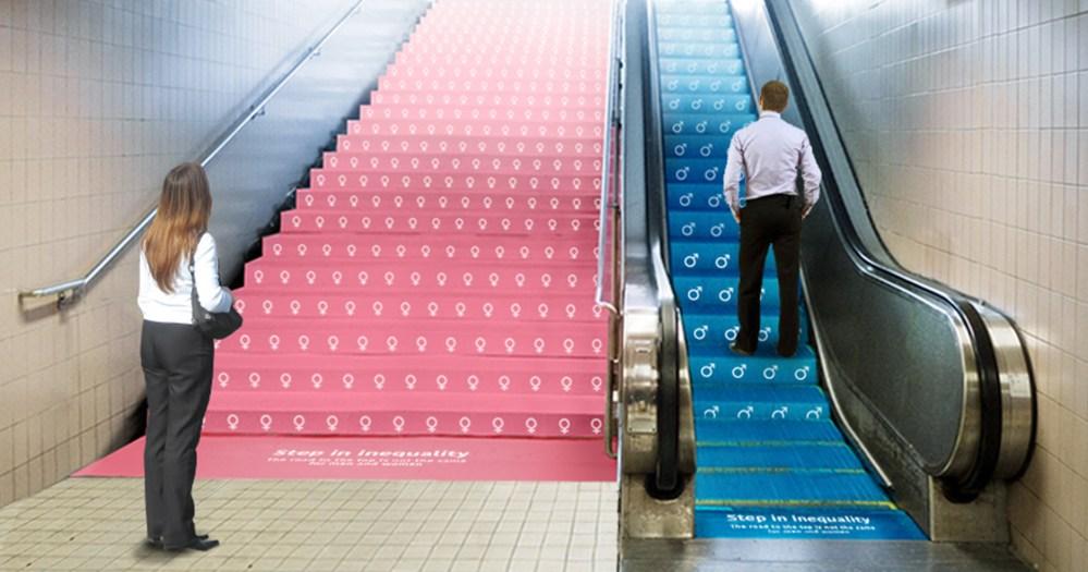 Campaña: Step in Inequality, en Metro de NY