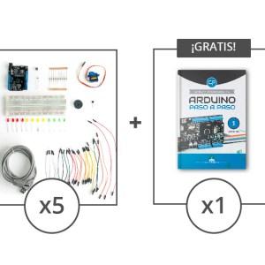 5 kits componentes mas 1 libro arduino gratis