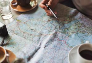 autour d'une carte voyage