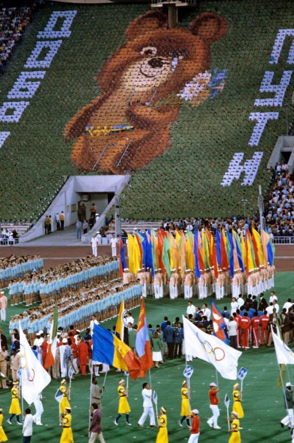 Misha, la mascota Olímpica de los Juegos Olímpicos de Moscú, 1980