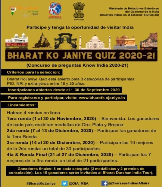 BHARAT KO JANIYE QUIZ 2020-21 INDIA