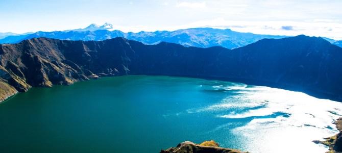 Laguna de Quilotoa, la paz reflejada en color verde esmeralda!!!