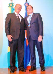 Sérgio Sobral ao lado do novo presidente da CEF, Pedro Guimarães
