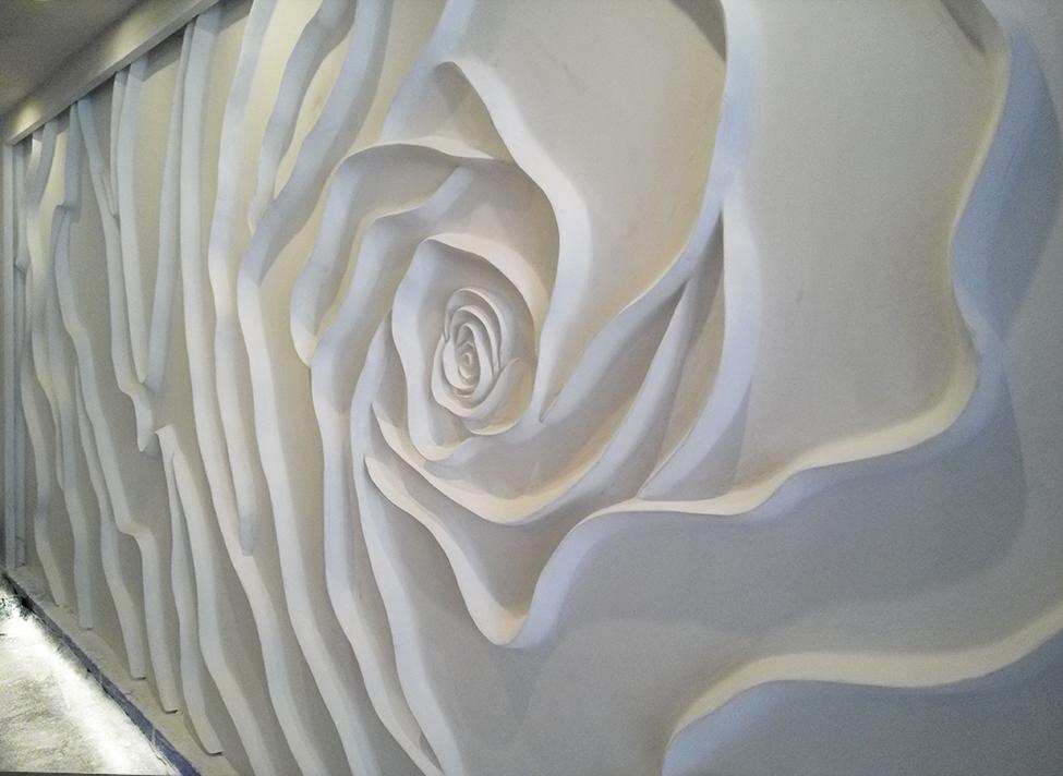 Full Wall Rose – Mural Wall Art