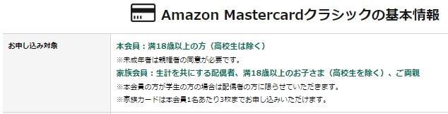 AmazonMastercard情報