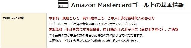 AmazonMastercardGold情報