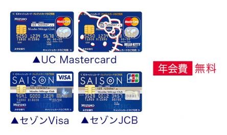 UC Mastercard/セゾンVisa/セゾンJCB