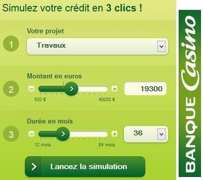 simulation de crédit banque casino