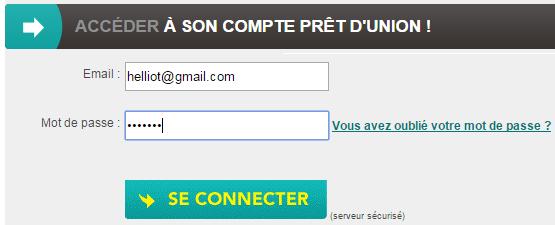 connexion mon compte pret d'union