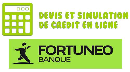 simulation de crédit Fortuneo