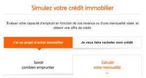 ING Direct Simulation pret immobilier