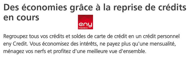 reprise de crédit Eny Finance en ligne