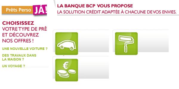 Crédit conso Banque BCP